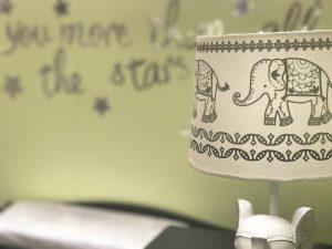 Wandtattoo im Babyzimmer mit Elefant