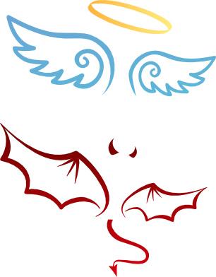 Engel Teufel Tattoo Vorlage