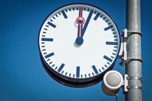Uhr als Wandtattoo