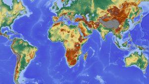 Eine Weltkarte als Wandtattoo
